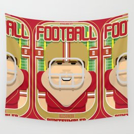 American Football Red and Gold - Enzone Puntfumbler - Bob version Wall Tapestry