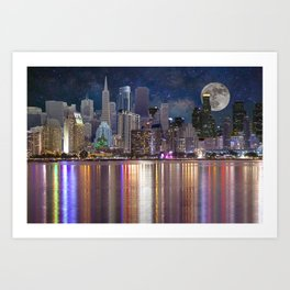 Can you name all the cities? Art Print