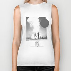 Love Is To Die | Collage Biker Tank