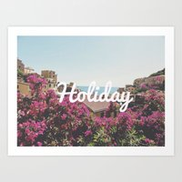 holiday Art Prints featuring Holiday by Laure.B