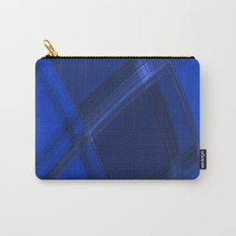 Metallic strokes with chaotic indigo lines from intersecting glowing neon stripes. Carry-All Pouch