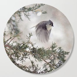 Fly-away Tufted Titmouse Cutting Board