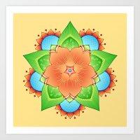 Mandala - Bloom 2 Art Print