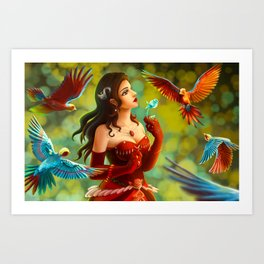 Red queen Art Print