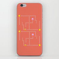 pacman iPhone & iPod Skins featuring Pacman by CATHERINE DONOHUE