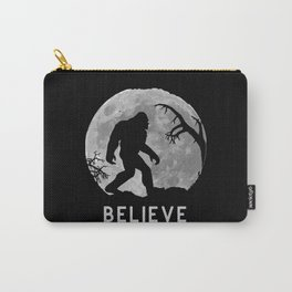 Bigfoot walking infront of moon silhouette Carry-All Pouch
