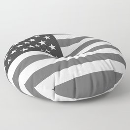 National flag of the USA, B&W version Floor Pillow