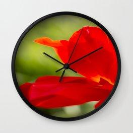 Long Stem Red Rose Wall Clock