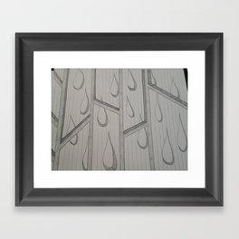 Raining Tears Framed Art Print