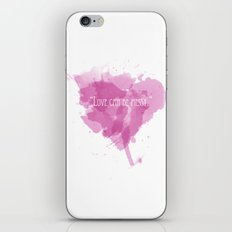 Love can be messy iPhone Skin