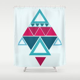 a few triangles making a pattern Shower Curtain