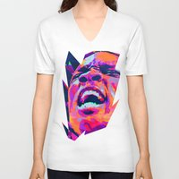 nba V-neck T-shirts featuring ERIC BLEDSOE: NBA ILLUSTRATION V2 by mergedvisible
