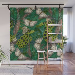 entangled forest green Wall Mural