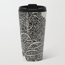 Amanda with curly grey hair Travel Mug