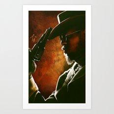 Django fanart - digital painting  Art Print