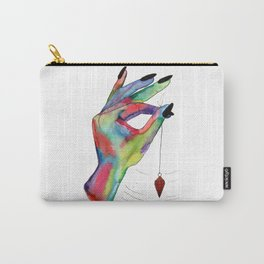 colorful hand holding pendulum Carry-All Pouch