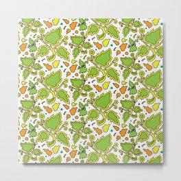 Fresh Leaves Metal Print