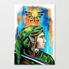 Link from the Legend of Zelda Painting. The Proud Hyrulian Warrior. Canvas Print