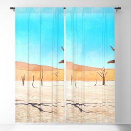 deadvlei desert trees acrstd Blackout Curtain