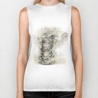 bath Biker Tanks featuring Tea bath by Julia Kisselmann