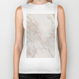 Marble Rose Gold Blush Pink Metallic by Nature Magick Biker Tank