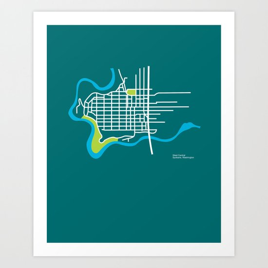 West Central, Spokane Art Print
