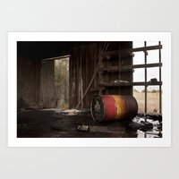 oil Art Prints featuring Oil by dsimpson