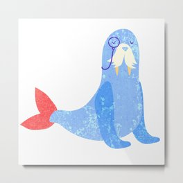 Seal with attitude Metal Print