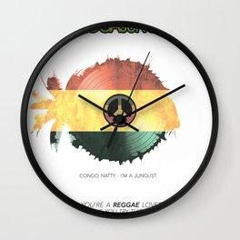 RAGGA JUNGLE Wall Clock