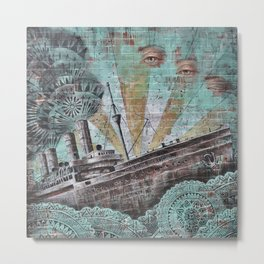the boat wall Metal Print