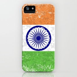 Flag of India Grunge iPhone Case
