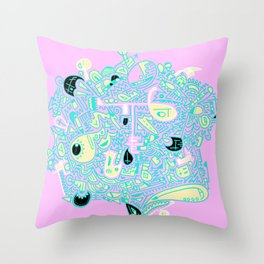 Doodle Those! with Colour! Throw Pillow