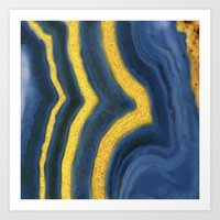 agate Art Prints featuring agate by The Pretty Shop NYC