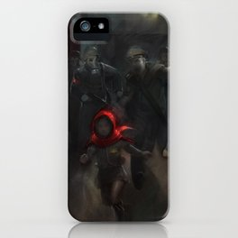 Girl with the red hood iPhone Case