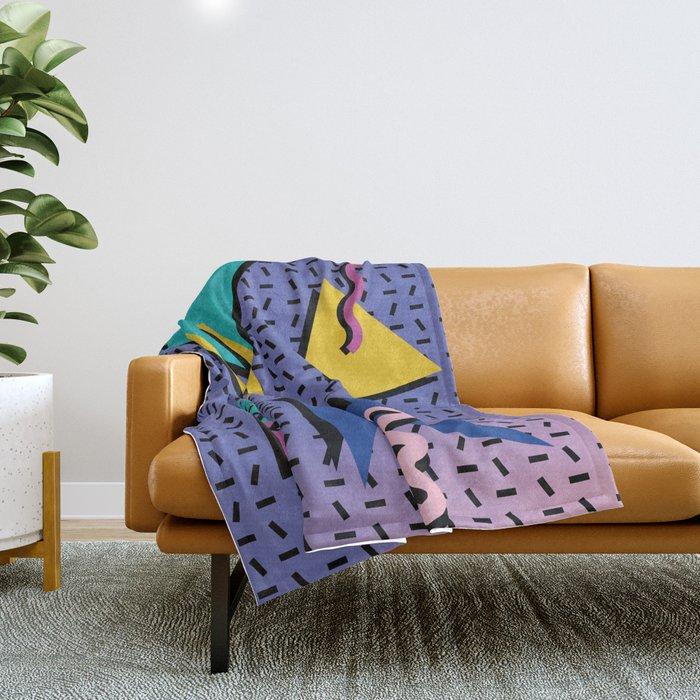 Memphis Pattern 9 - 90s - Retro Throw Blanket