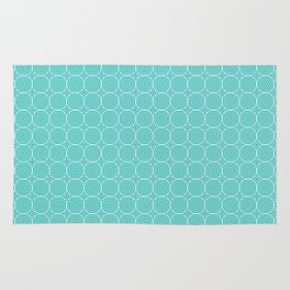 Geometric Circles Blue Rug