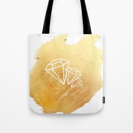Faceted Gold Tote Bag