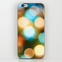 Abstract holiday Christmas background with blue and yellow iPhone Skin