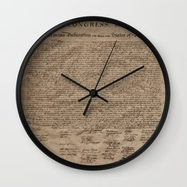 Declaration Wall Clock