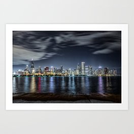 Chicago Skyline From the Adler Planetarium Part 2 Art Print