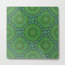 Emerald Circles Metal Print