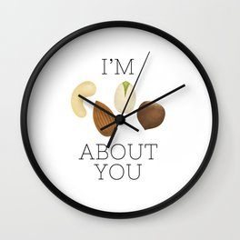 I'm Nuts About You Wall Clock