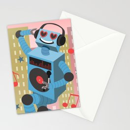 Robot DJ Stationery Cards