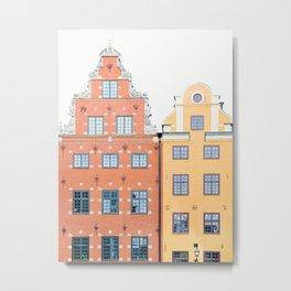 Scandinavian Color - Stockholm Sweden Travel Photography Metal Print