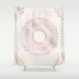 Rose Gold Mandala Shower Curtain
