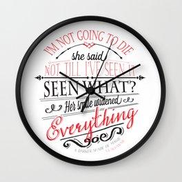 A DARKER SHADE OF MAGIC by V.E.Schwab - Book Quote Wall Clock