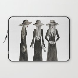 Coven Watercolor Witch Trio Laptop Sleeve