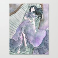 doll Canvas Prints featuring doll by acca