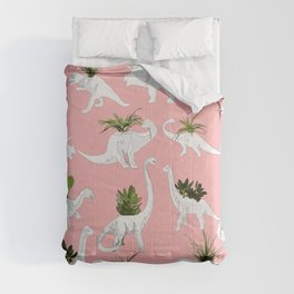 Dinosaurs & Succulents Comforters