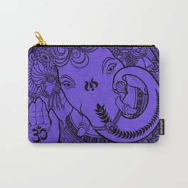 Ganesha Lineart Lilac Carry-All Pouch